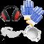 Equipement de Protection: Gants, lunettes, casque et masque offerts