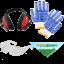 Equipement de Protection: Lunettes, gants, casque et bandana Agrieuro offerts